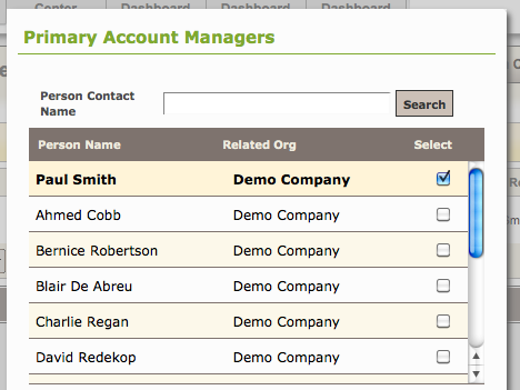 Assign an Account Manager to a Client2