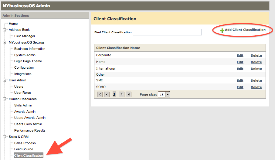 Client Classifications1