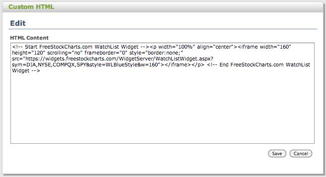 Custom Front Page Widgets (HTML)12