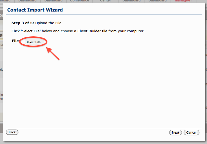 Importing Clients from Client Builder4