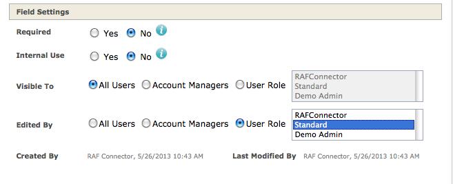 Manage User Defined Fields6